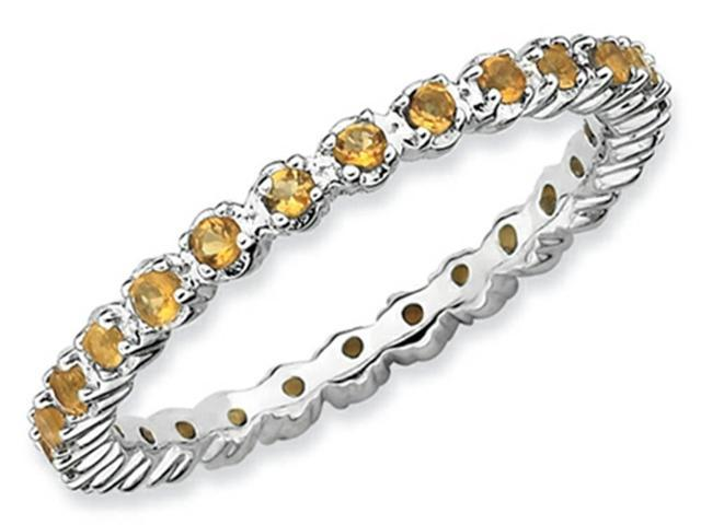 Stackable Expressions Sterling Silver Citrine Stackable Ring Size 9