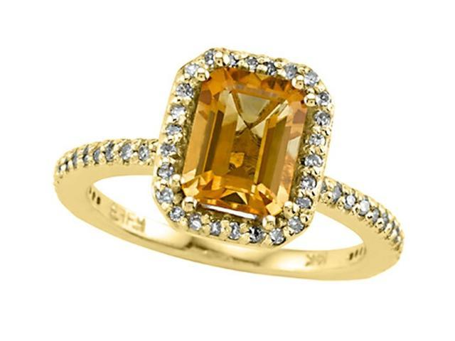 Genuine Citrine Ring by Effy Collection in 14 kt Yellow Gold Size 5.5