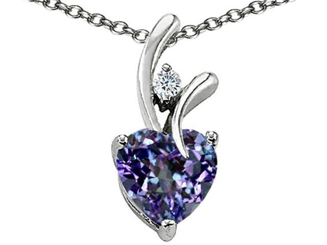 Star K 1.95 cttw Heart Shaped 8mm Created Alexandrite Pendant