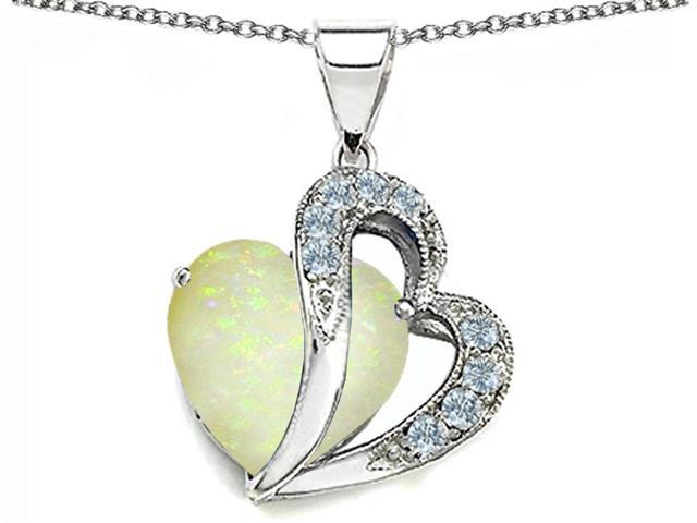 1.45 cttw Original Star K(TM) Heart Shape 12mm Created Opal Pendant