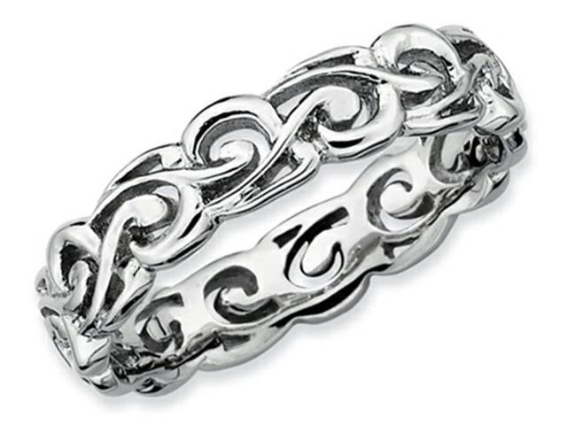 Stackable Expressions Sterling Silver Polished Stackable Ring Size 5