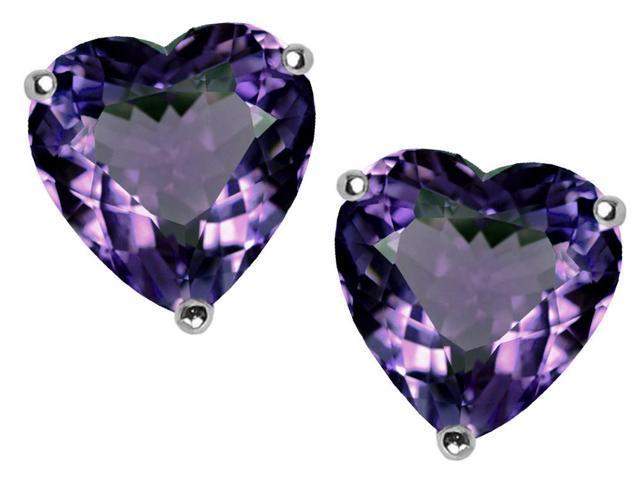 3.00 cttw Original Star K(TM) 7mm Heart Shape Simulated Alexandrite Earring Studs
