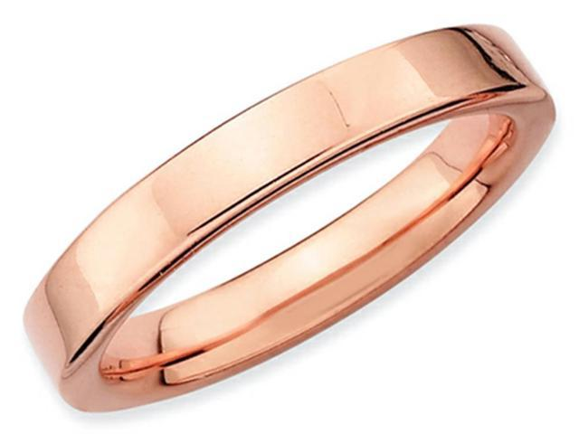 Stackable Expressions Sterling Silver Pink-plated Stackable Ring Size 7