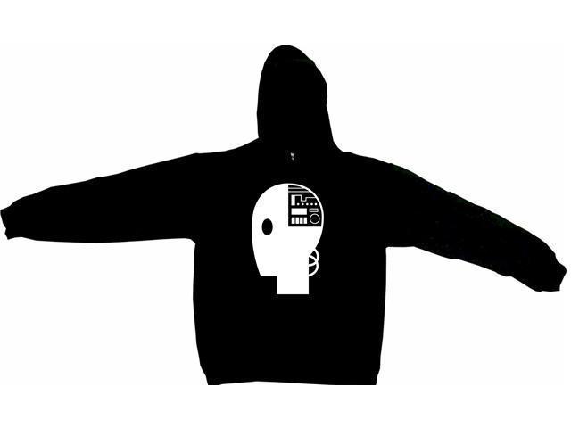 Robot Head Logo Men's Hoodie Sweat Shirt