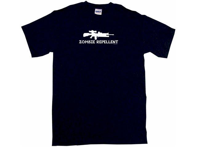 ZOMBIE REPELLENT Machine Gun Logo Men's Short Sleeve Shirt