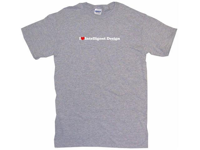 I Heart (Love) Intelligent Design Men's Short Sleeve Shirt