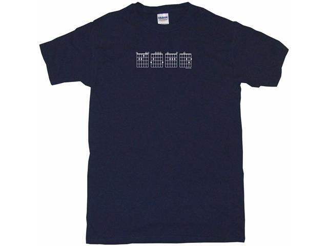 Guitar Chords Logo E G A D Men's Short Sleeve Shirt