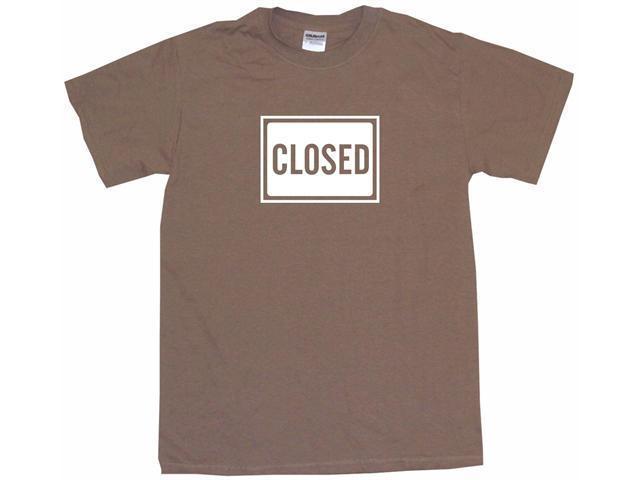 Closed Sign Logo Men's Short Sleeve Shirt