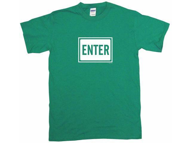 Enter Sign Logo Men's Short Sleeve Shirt