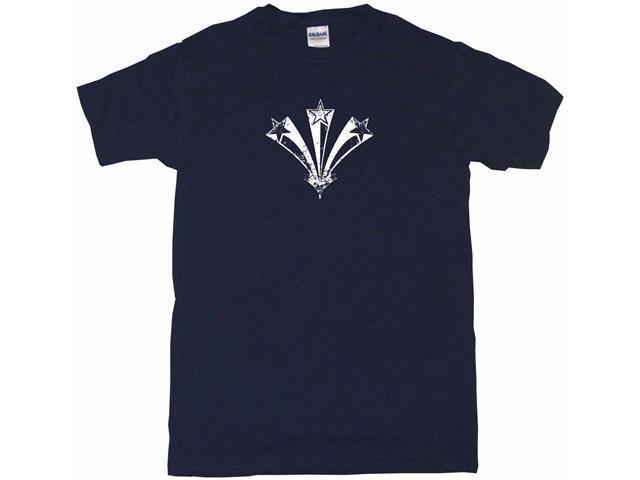 Distressed 3 Stars 70's Style Logo Men's Short Sleeve Shirt