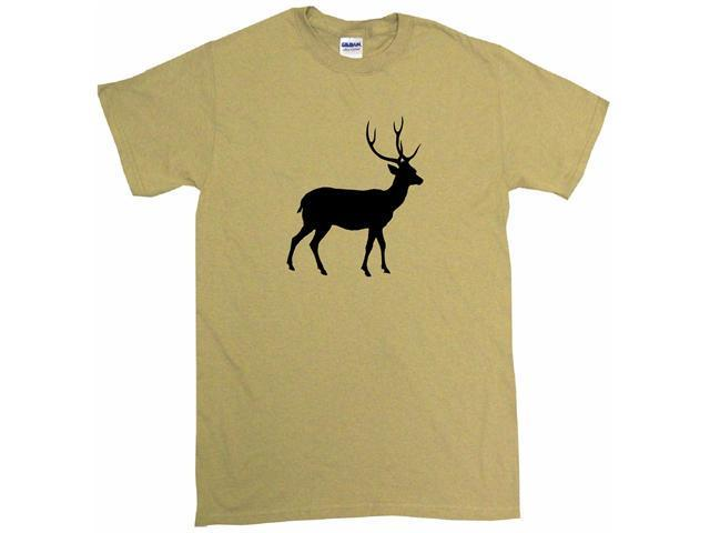 Deer With Antlers Silhouette Logo Men's Short Sleeve Shirt