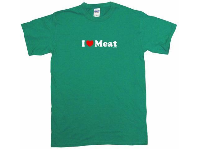 I Heart (Love) Meat Men's Short Sleeve Shirt