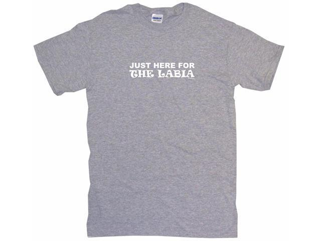 Just Here For The Labia Men's Short Sleeve Shirt
