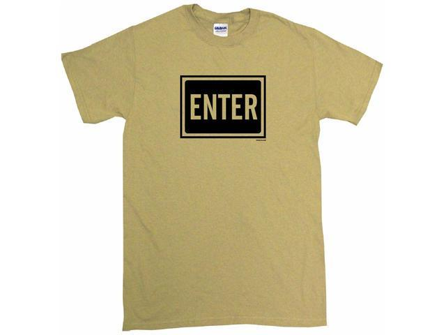 Enter Sign Logo Men's Short Sleeve Shirt
