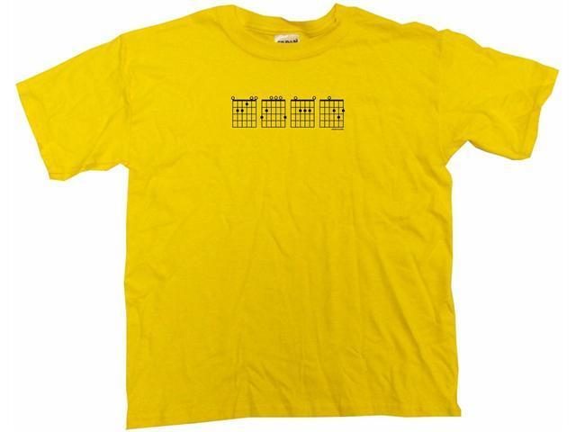 Guitar Chords Logo E G A D Kids T Shirt