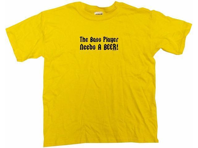 The Bass Player Needs A Beer Kids T Shirt