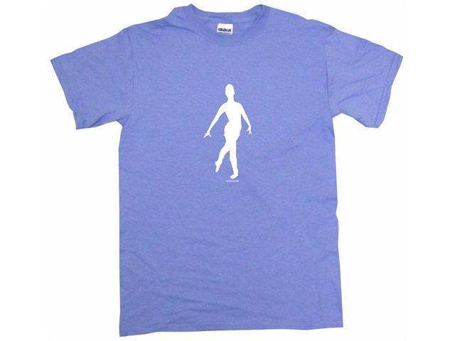 Ballet Dancer Silhouette Logo Men's Short Sleeve Shirt