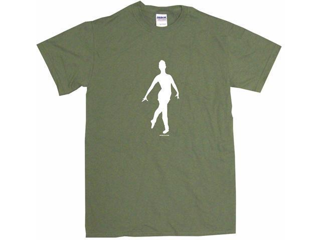 Ballet Dancer Silhouette Logo Men's Short Sleeve Shirt