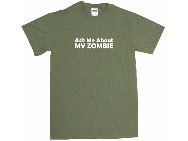 Ask Me About My Zombie Men's Short Sleeve Shirt