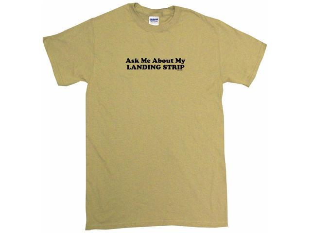 Ask Me About My Landing Strip Men's Short Sleeve Shirt