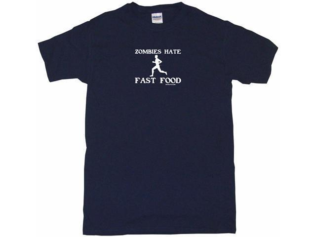 Zombies Hate Fast Food Men's Short Sleeve Shirt