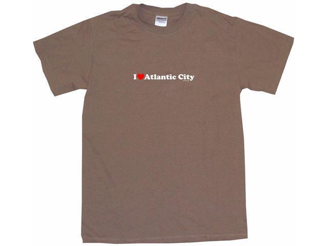 I Heart (Love) Atlantic City Men's Short Sleeve Shirt