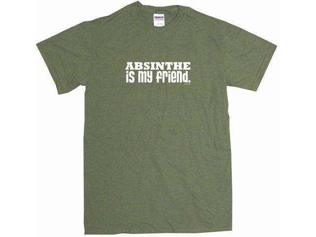 Absinthe Is My Friend Men's Short Sleeve Shirt