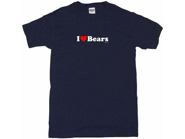 I Heart (Love) Bears Men's Short Sleeve Shirt