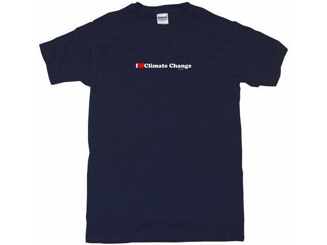 I Heart (Love) Climate Change Men's Short Sleeve Shirt