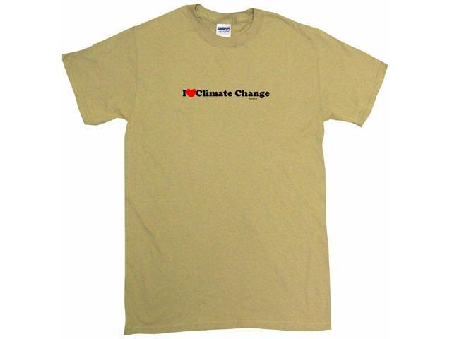I Heart (Love) Climate Change Men's Short Sleeve Shirt