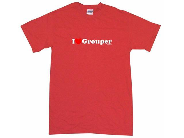 I Heart (Love) Grouper Men's Short Sleeve Shirt