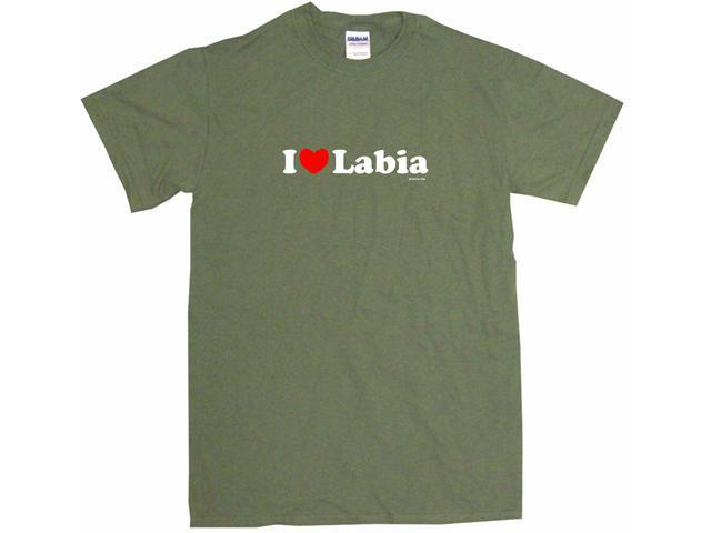 I Heart (Love) Labia Men's Short Sleeve Shirt