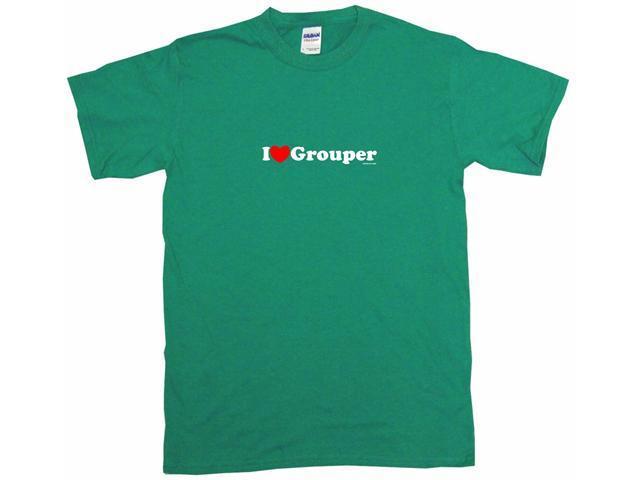 I Heart (Love) Grouper Men's Short Sleeve Shirt
