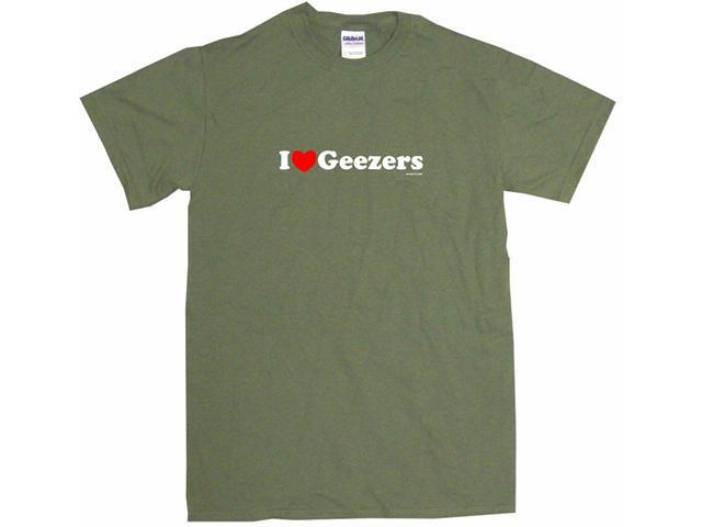 I Heart (Love) Geezers Men's Short Sleeve Shirt