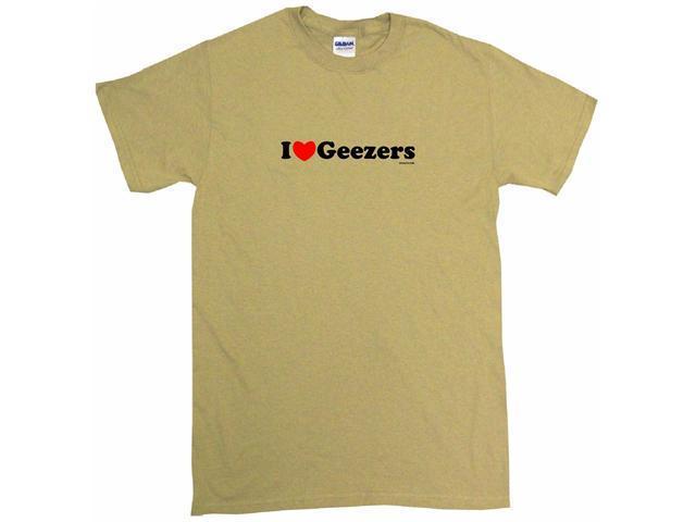 I Heart (Love) Geezers Men's Short Sleeve Shirt