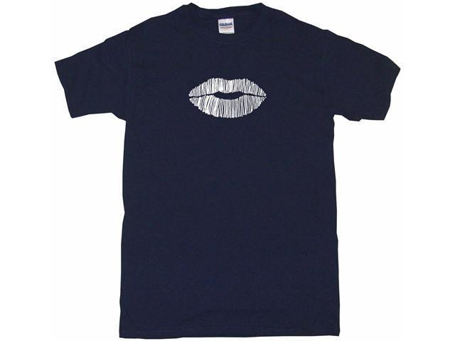 Women's Lips Neon Sign Style Logo Men's Short Sleeve Shirt