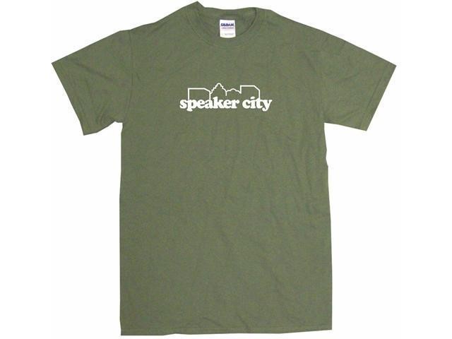 Speaker City Men's Short Sleeve Shirt
