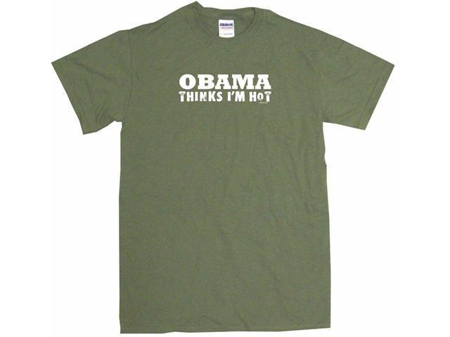 Obama Thinks I'm Hot Men's Short Sleeve Shirt