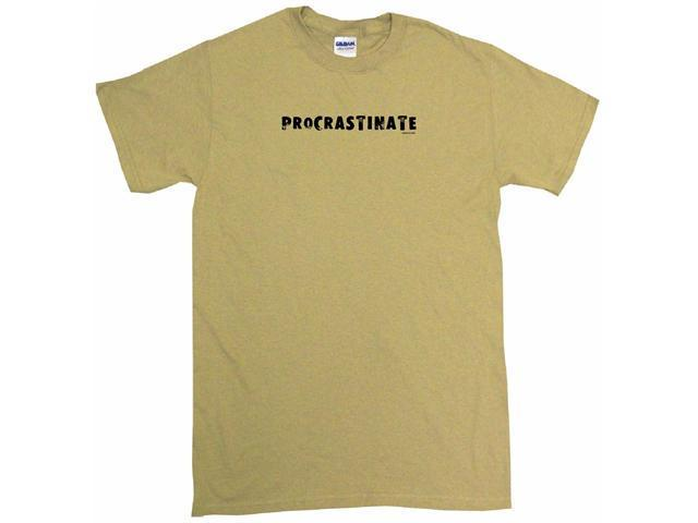 Procrastinate Distressed Style Logo Men's Short Sleeve Shirt