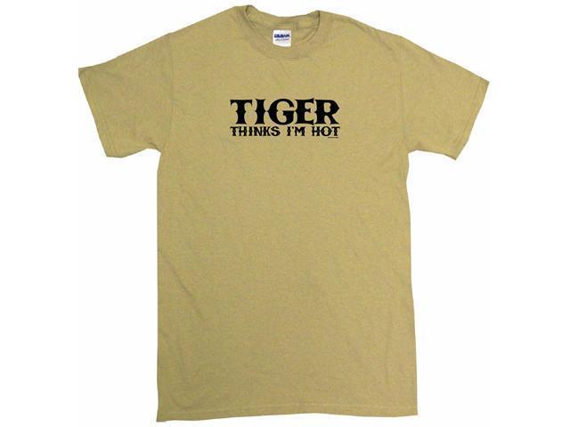Tiger Thinks I'm Hot Men's Short Sleeve Shirt