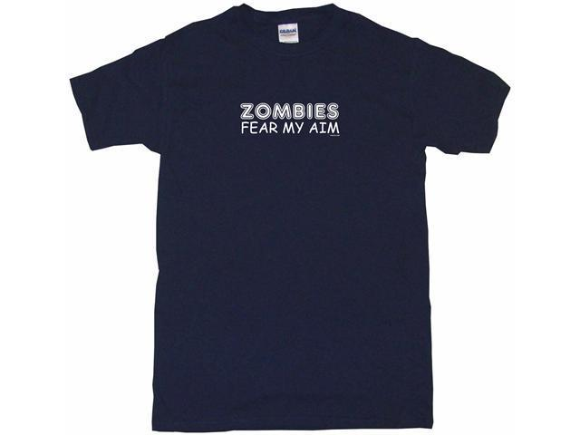 Zombies Fear My Aim Men's Short Sleeve Shirt
