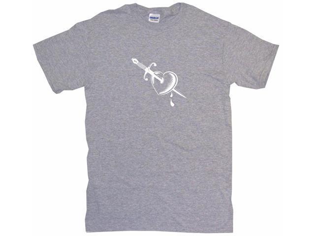 Dagger Through The Heart Logo Men's Short Sleeve Shirt