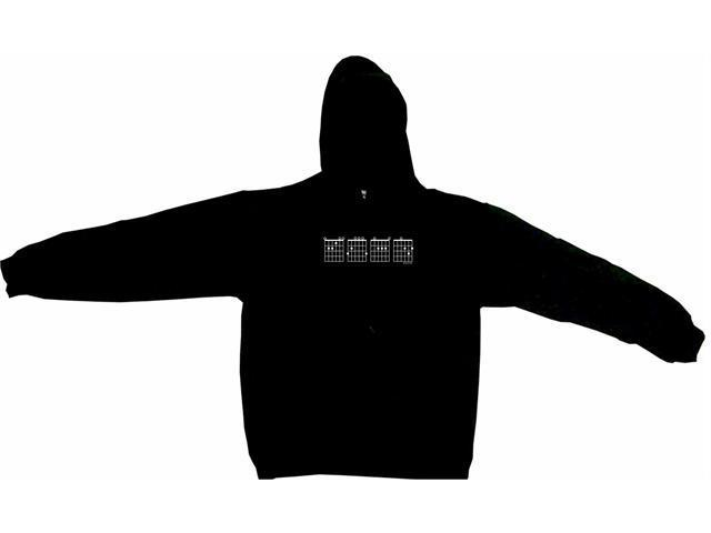 Guitar Chords Logo E G A D Men's Hoodie Sweat Shirt