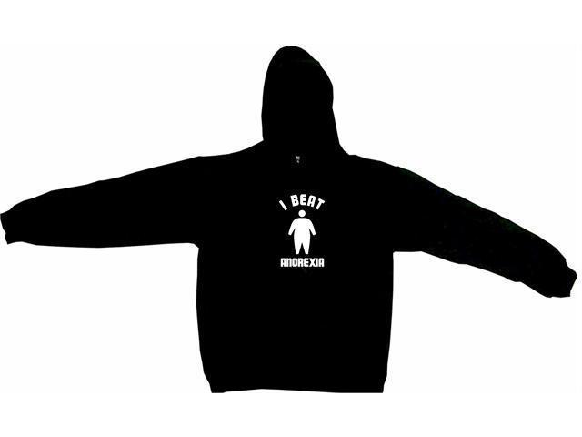 I Beat Anorexia Big Silhouette Logo Men's Hoodie Sweat Shirt