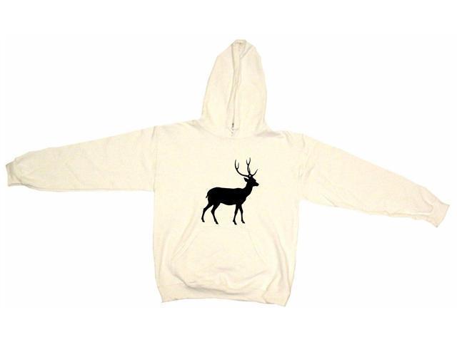 Deer With Antlers Silhouette Logo Men's Hoodie Sweat Shirt