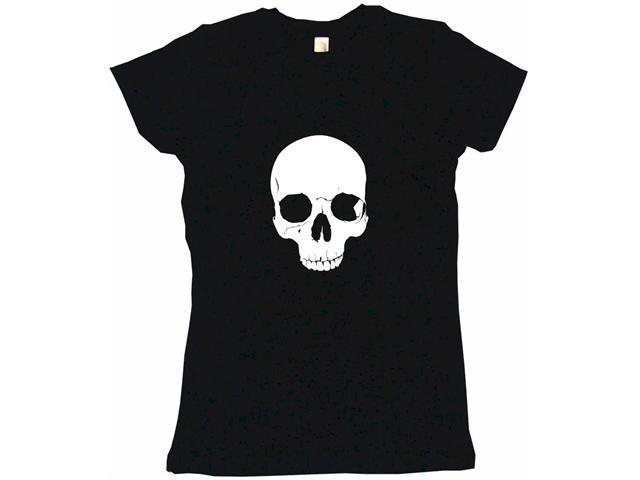 Gothic Half skull Women's Babydoll Petite Fit Tee Shirt