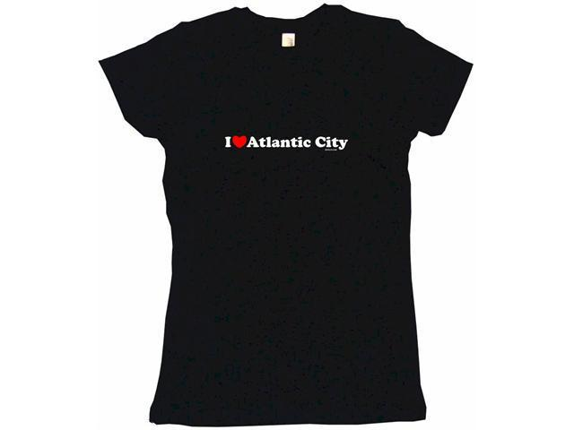I Heart (Love) Atlantic City Women's Babydoll Petite Fit Tee Shirt