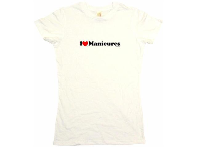 I Heart (Love) Manicures Women's Babydoll Petite Fit Tee Shirt
