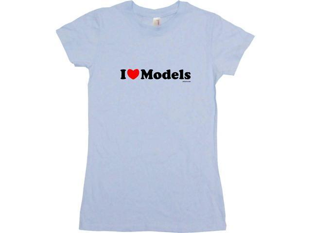 I Heart (Love) Models Women's Babydoll Petite Fit Tee Shirt