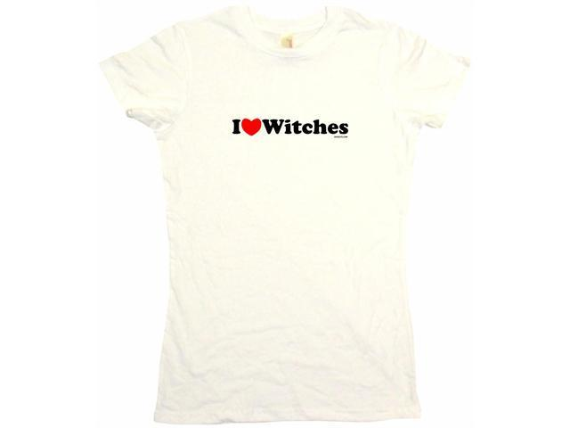 I Heart (Love) Witches Women's Babydoll Petite Fit Tee Shirt